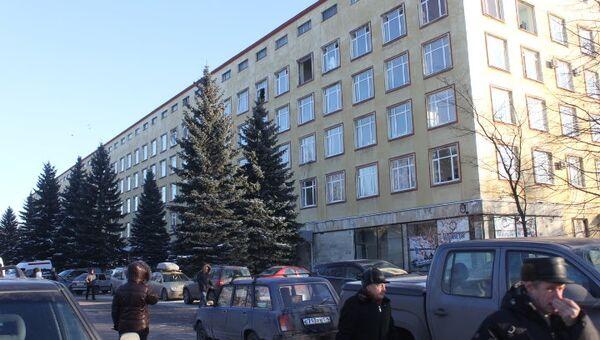 Обрушение в административном здании в Петербурге
