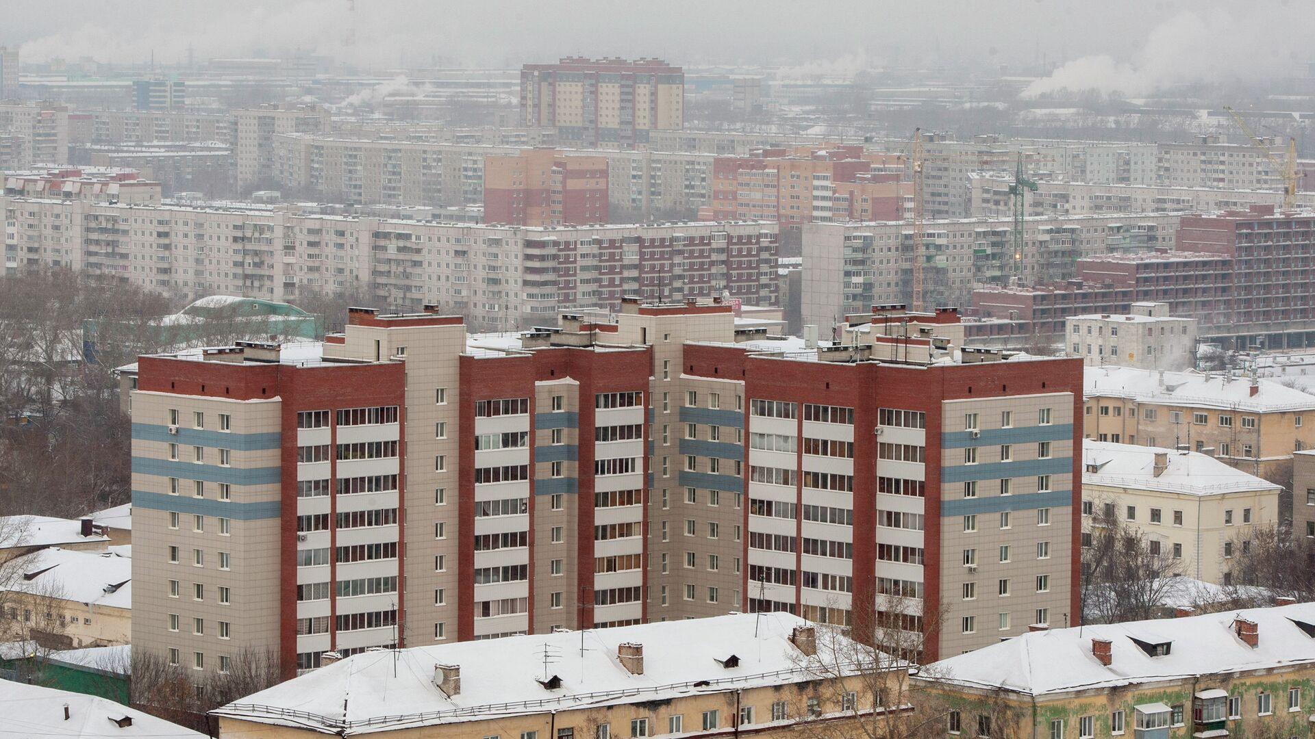 Ленинский район Новосибирска зимой - РИА Новости, 1920, 18.01.2021