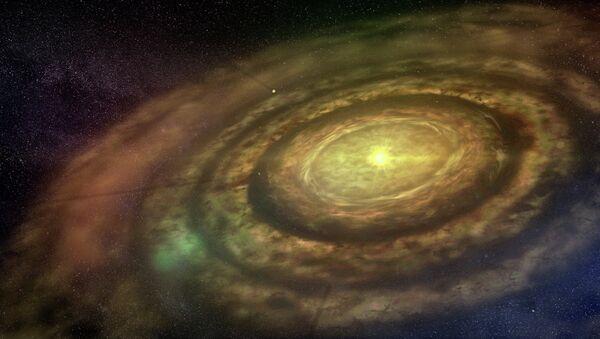 Протопланетный газопылевой диск вокруг звезды