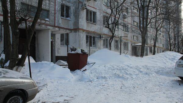 Снегопад в Ростове-на-Дону, февраль 2014