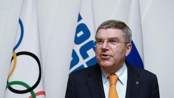 Глава Международного олимпийского комитета (МОК) Томас Бах. Архивное фото