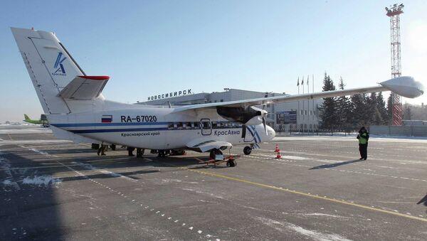 Самолет авиакомпании Красавиа в новосибирском аэропорту Толмачево. Архивное фото