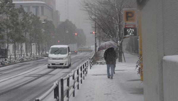 Cнег в Токио