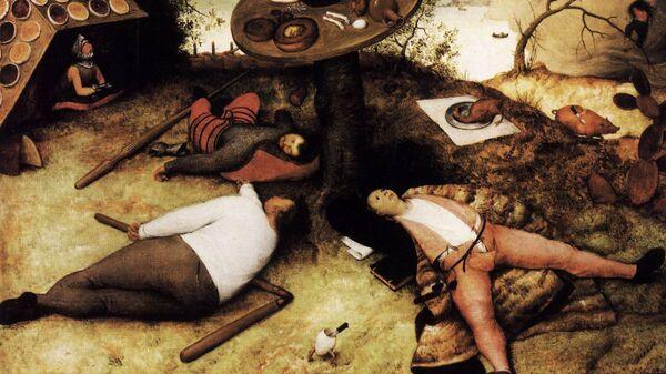 Питер Брейгель Старший. Страна лентяев, 1567