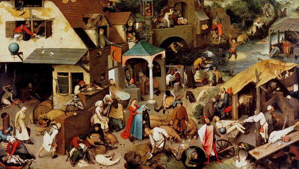 Питер Брейгель. Фламандские пословицы. 1559 год