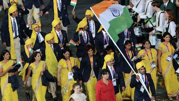 Делегация Индии во время парада олимпийских сборных на церемонии открытия ХХХ летних Олимпийских игр в Лондоне. Архивное фото