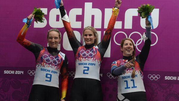 Татьяна Хюфнер (Германия), Натали Гайзенбергер (Германия) и Эрин Хэмлин (США). Фото с места событий