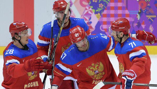 Хоккеисты сборной России на Играх в Сочи