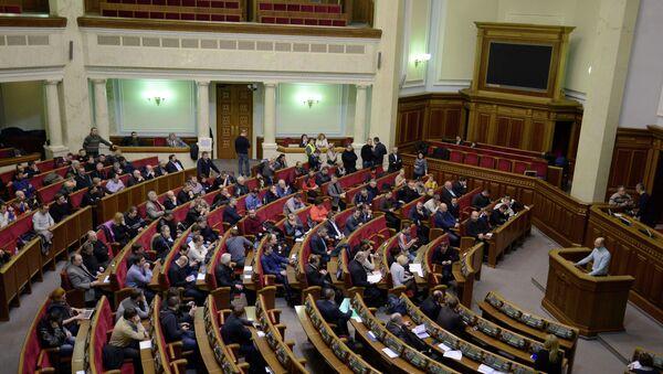 Депутаты собрались на заседании в Верховной Раде Украины. Архивное фото