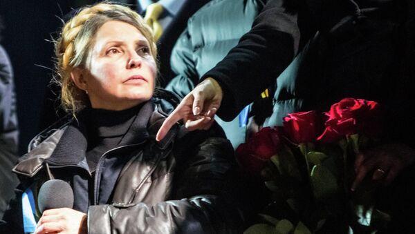 Юлия Тимошенко во время выступления на Майдане
