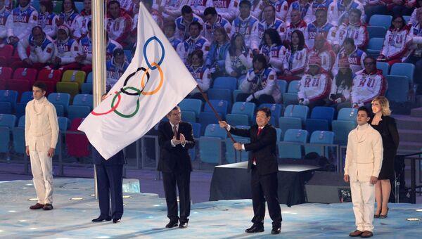 Мэр города Пхенчхана Ли Сок Рэ на церемонии закрытия XXII зимних Олимпийских игр в Сочи.