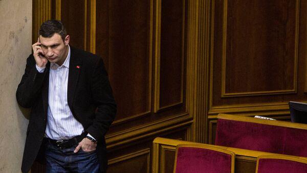 Виталий Кличко в Верховной раде Украины, архивное фото