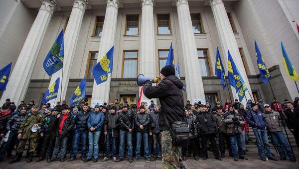 У Верховной Рады Украины, архивное фото