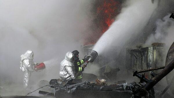 Взрыв на заводе в Омске