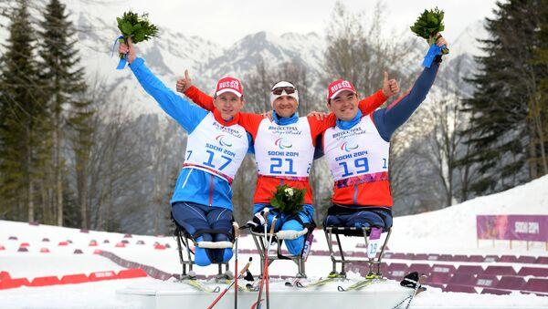 Паралимпиада 2014. Лыжные гонки. Мужчины. 15 км. Архивное фото