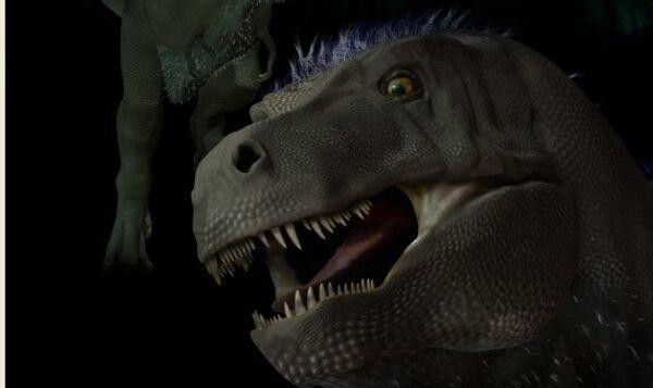 Тираннозавр-пигмей Nanuqsaurus hoglundi в представлении художника