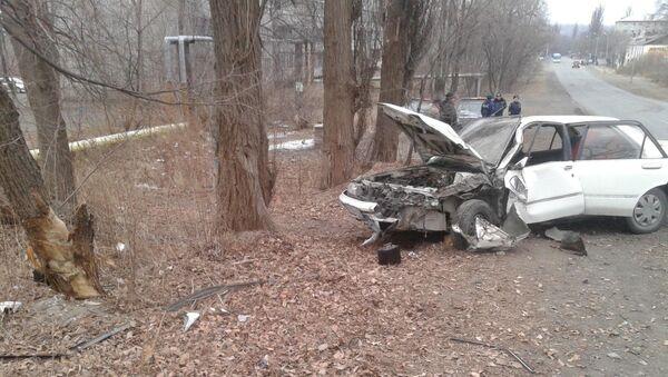 Житель Партизанска попал в ДТП, врезавшись в дерево на угнанном у своего деда автомобиле. Фото с места событий