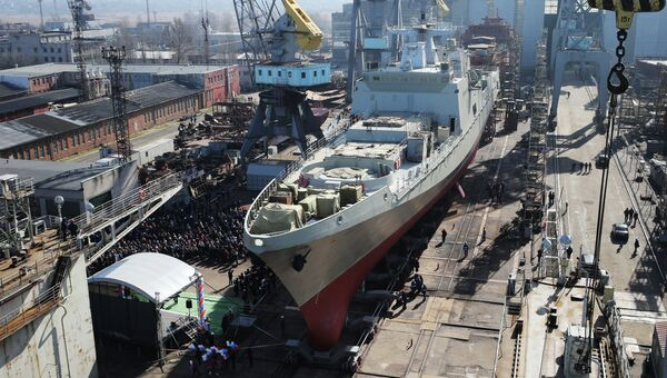 Спуск на воду фрегата Адмирал Григорович