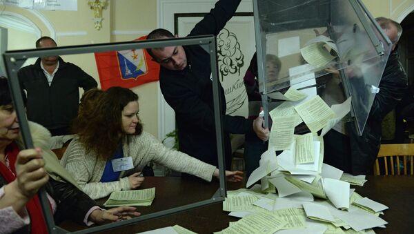 Подсчет голосов по итогам референдума о статусе Крыма