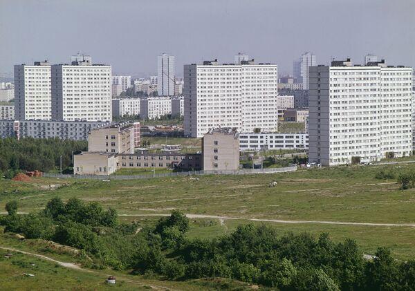 Жилые кварталы Юго-Запада столицы, новостройка, район