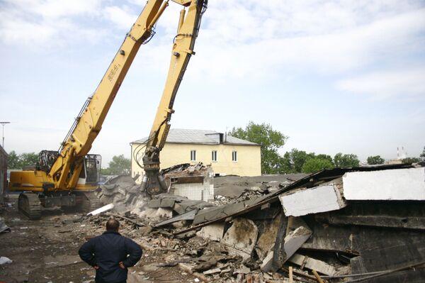 Обрушение здания Люблинского рынка в Москве
