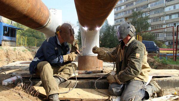 Замена труб на теплотрассе, отопительный сезон, теплосеть, трубы, ремонт, жкх
