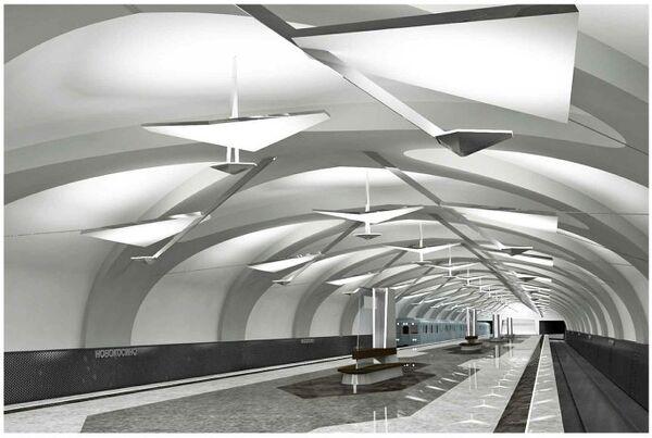 Платформа станции Новокосино