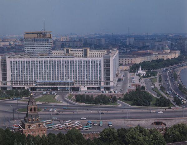 Вид на гостиницу Россия