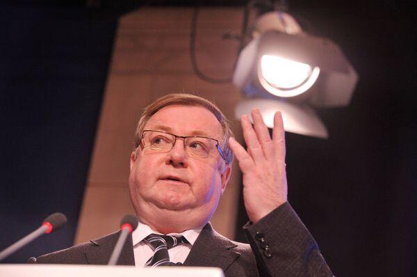 Председатель Счетной палаты РФ Сергей Степашин выступает на Международном юридическом конгрессе в Москве