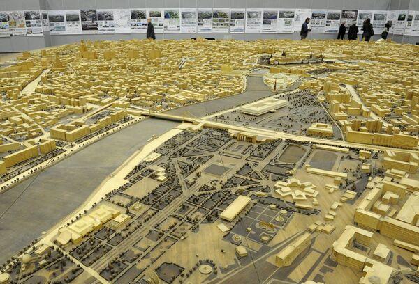 Выставка проектов по развитию пространства на территории Зарядья