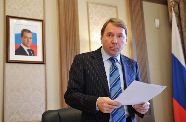 Интервью с управляющим делами президента РФ Владимиром Кожиным
