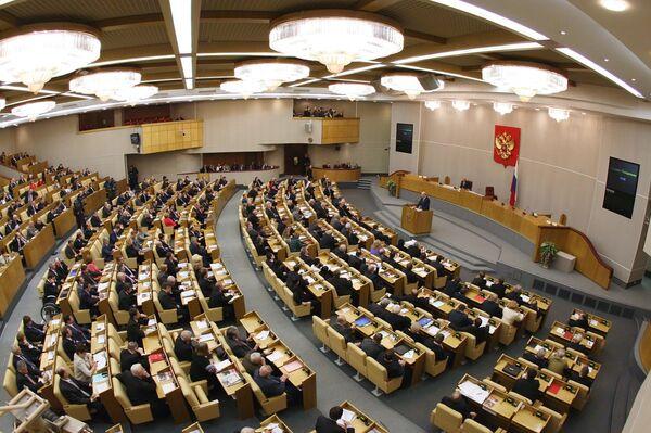 Борис Грызлов во время выступления в Государственной Думе РФ