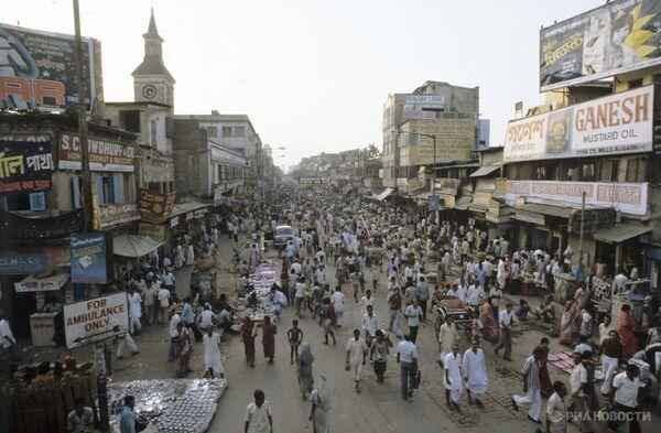 Улица в Калькутте. Индия