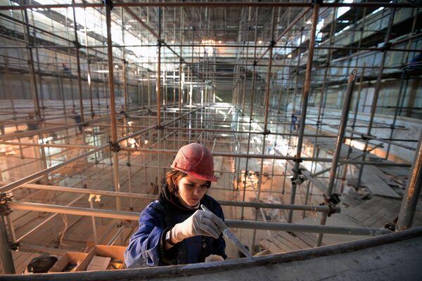 Реставрационно-ремонтные работы в Большом зале Московской консерватории