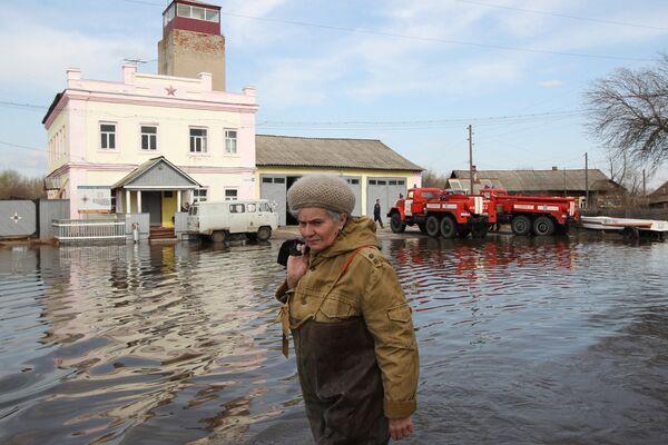 Паводковая обстановка в поселке Кадом Рязанской области