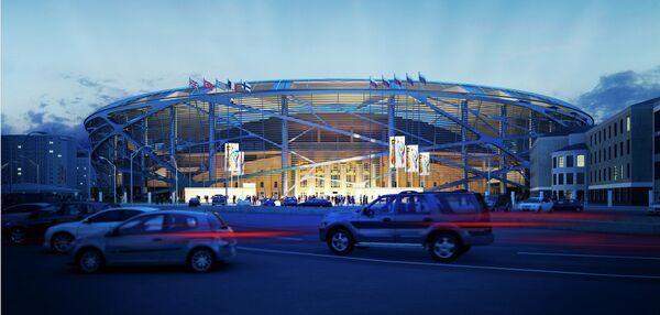 Макет стадиона Центральный в Екатеринбурге к ЧМ-2018