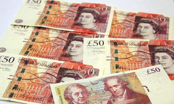 Новые 50-фунтовые банкноты Банка Англии