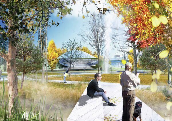 Проект-победитель парка в Зарядье