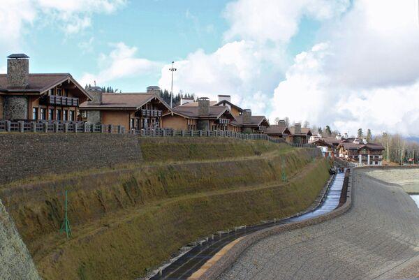 Горная олимпийская деревня в Сочи