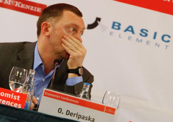 Олег Дерипаска на конференции The Economist 11-й Российский деловой круглый стол