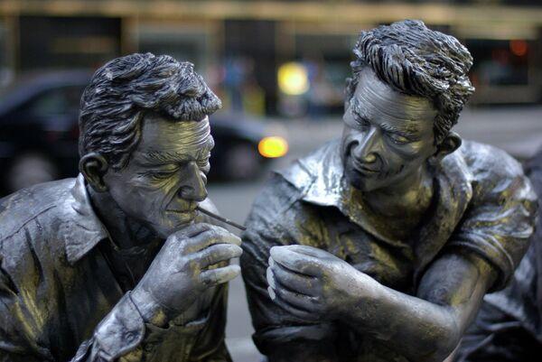 Фрагмент памятника строителям Нью-Йорка