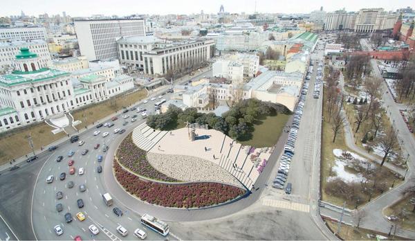 Проект благоустройства Боровицкой площади Pride