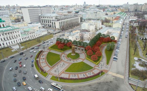 Проект благоустройства Боровицкой площади ЗАО НИиПИ ИГСП
