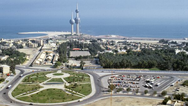 Вид на город Эль-Кувейт сверху