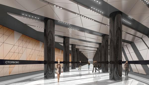 Проектируемая станиция метро Столбово