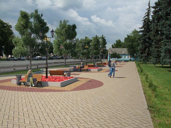 Проект пешеходной зоны в Бронницах