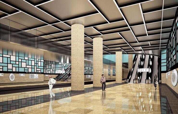Станция Юго-Восточная Кожуховской линии метро Москвы