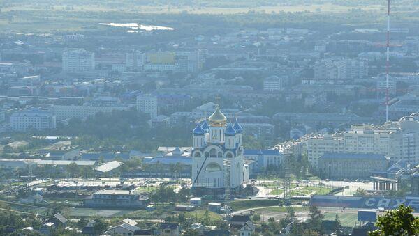 Города России. Южно-Сахалинск. Архивное фото