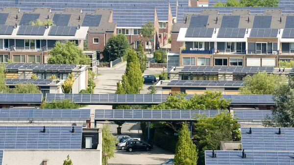 Жилые дома в районе Nieuwland, Амерсфорт, Нидерланды