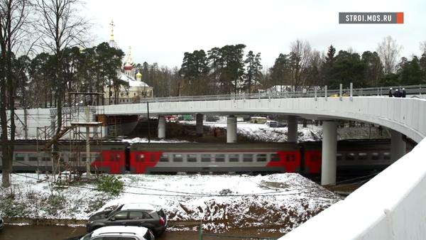 Эстакаду в форме подковы построили у ж/д платформы Переделкино